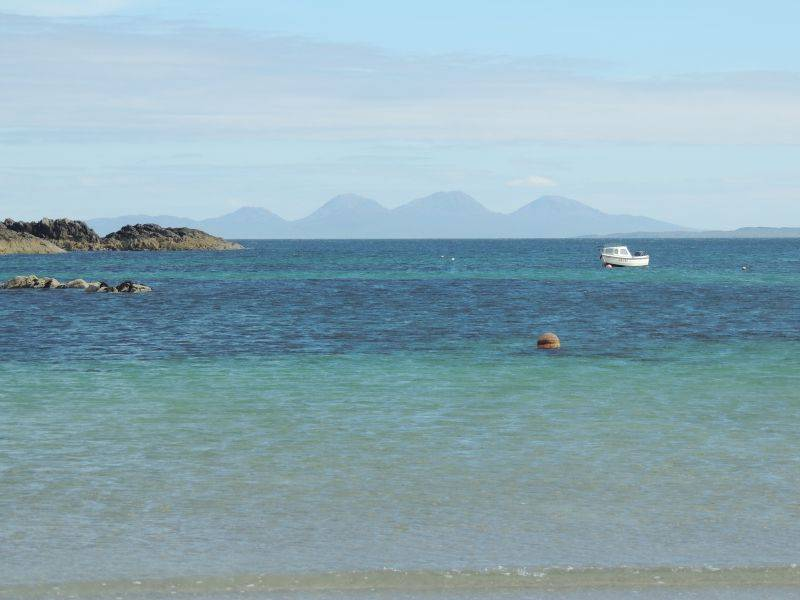 Beach near Uisken, with Islay and Colonsay in the background